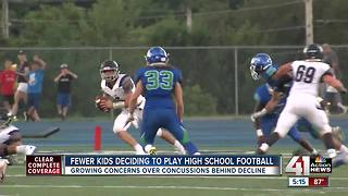 High school football participation rates continue decline