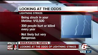 What are the odds of being struck by lightning? - Video