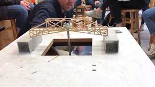 Physics Students' Bridge Designs Get Tested - Video