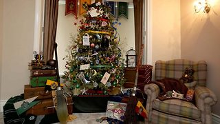 Check out this sirius-ly good Harry Potter themed christmas tree - Video
