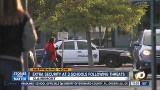Extra security at 3 schools following threats