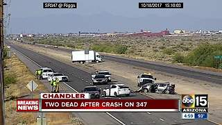 Deadly crash on 347 leaves 2 dead - Video