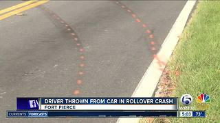 Driver thrown from vehicle in deadly Fort Pierce wreck - Video