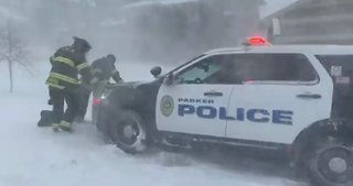 'Cops Need Heroes Too': Firefighters Help Police Bogged Down by Blizzard