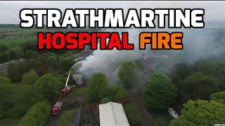 Drone Footage Shows Fire at Derelict Strathmartine Hospital Near Dundee - Video