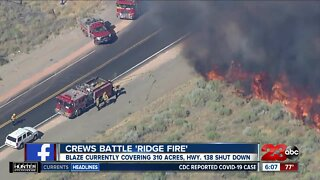 "Crews battle ""Ridge Fire"""