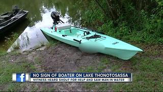 Search underway for possible missing boater in Thonotosassa - Video