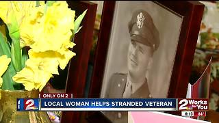 Local woman helps stranded veteran - Video