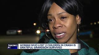Woman who lost two children in I-94 crash is grateful grandson survived - Video