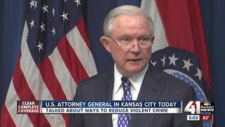 Jeff Sessions speaks about violent crime in Kansas City - Video