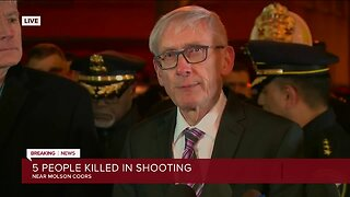 Evers calls for moment of silence during press conference following Molson Coors shooting