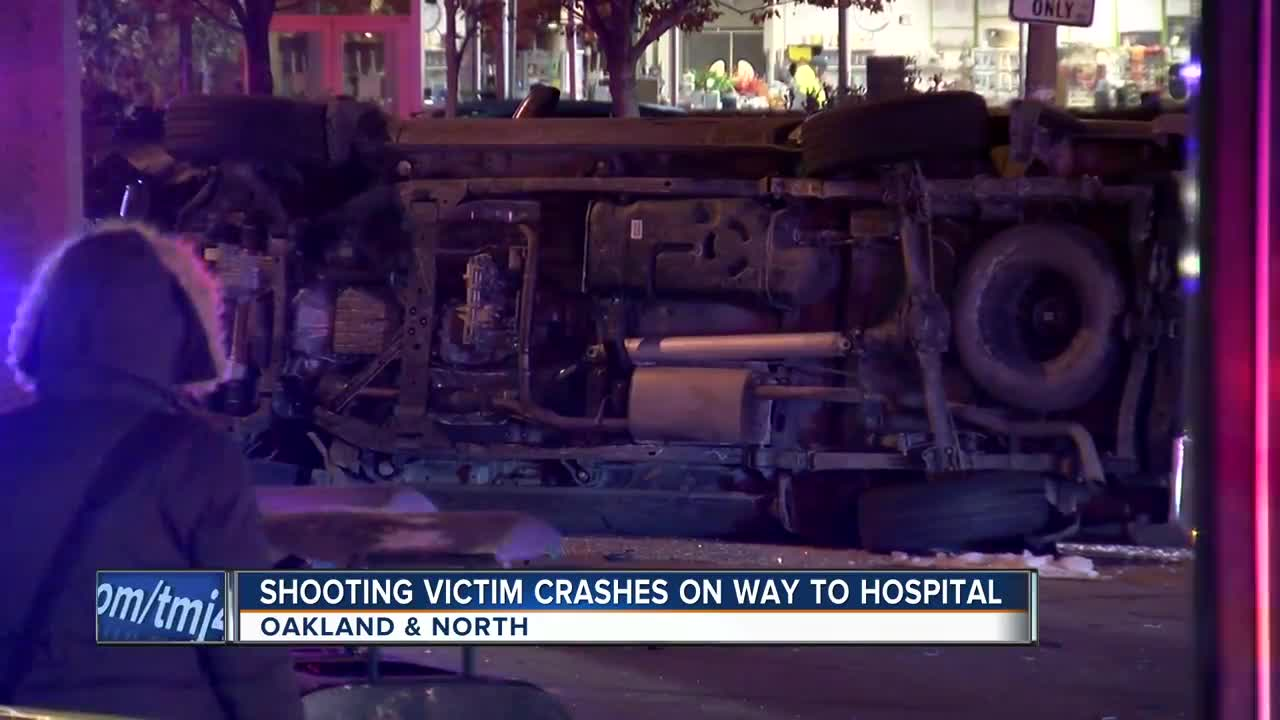 Shooting victim crashes while en-route to local hospital