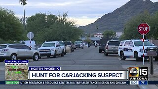 Suspect on the loose after carjacking Amazon truck in Phoenix