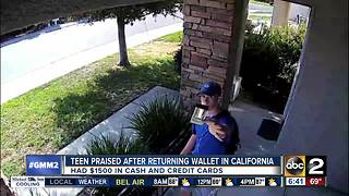 California teen returns wallet with $1,500 in cash - Video