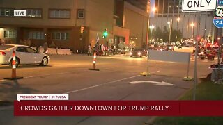 Downtown Tulsa after Trump rally