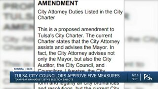 Five city charter changes on Aug. 25th ballot