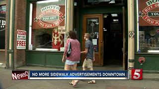 Nashville Removes Sidewalk Advertisements - Video