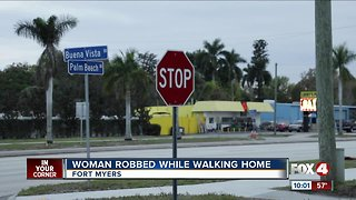 Woman robbed while walking home Fort Myes