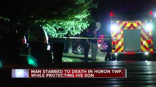 Father killed in Huron Township - Video