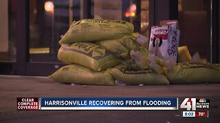 Heavy rains cause flooding in parts of Harrisonville