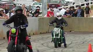 Young Harley Davidson Riders Destroy Wheelie Challenge - Video