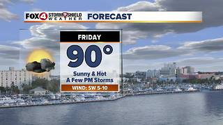 FORECAST: Scattered Storms, Hot & Humid 6-7 - Video
