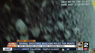 Baltimore Police Department releases body worn camera video for several shootings - Video