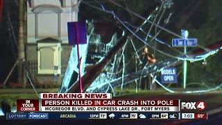 Deadly crash causes power outages along McGregor Blvd - Video
