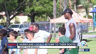 Miami Hurricanes take over Palm Beach County - Video