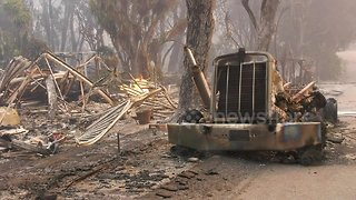 Footage shows aftermath of devastating Woolsey Fire