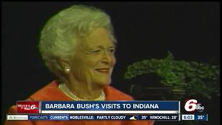 When Barbara Bush visited Indiana