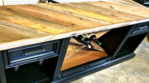 How to create an amazing wine bar from an old TV cabinet