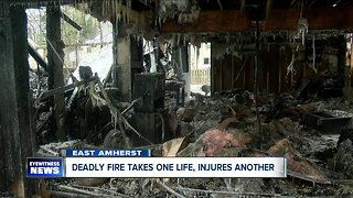 One dead, another sent to ECMC following East Amherst fire