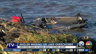 Crashed boat found on Lake Okeechobee; Florida fisherman still missing