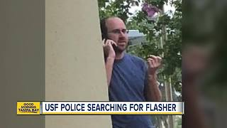 USF Police searching for man who exposed himself - Video