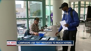 Political text messages used to reach voters - Video