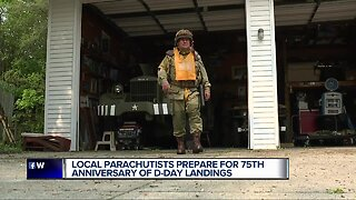 Local parachutists prepare for the 75th anniversary of D-Day landings