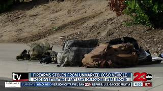 Firearms stolen from unmarked KCSO vehicle - Video