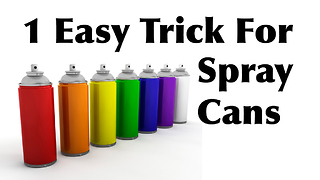 How To Clean Your Spray Paint Nozzles For Easier Painting - Video