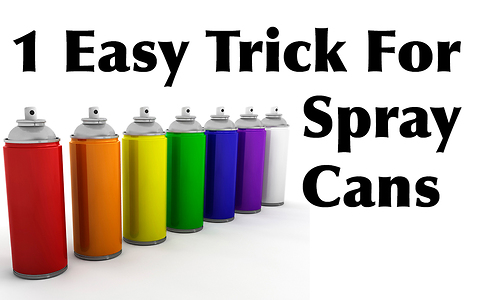 This trick could solve your spray painting problems