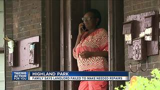 Family says landlord failed to make much needed repairs - Video