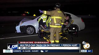 1 person injured in chain reaction crash on SR-94