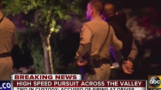PD: Two in custody after pursuit; suspects allegedly shot at woman's vehicle - Video