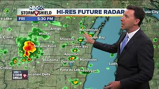 Michael Fish's NBC26 Today weather forecast - Video