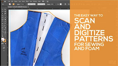 Easy Way to Scan and Digitize Patterns for Sewing and Foam