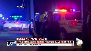 Two men injured during football game shooting