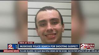 Muskogee police search for shooting suspect - Video