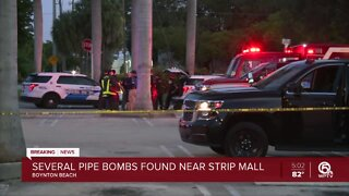 Several pipe bombs found near strip mall in Boynton Beach