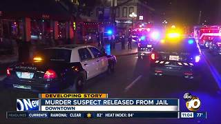 Suspect in Gaslamp Quarter shooting released from jail