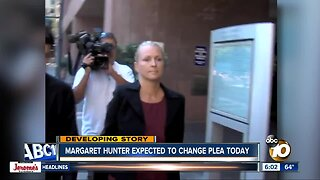 Margaret Hunter expected to change plea today